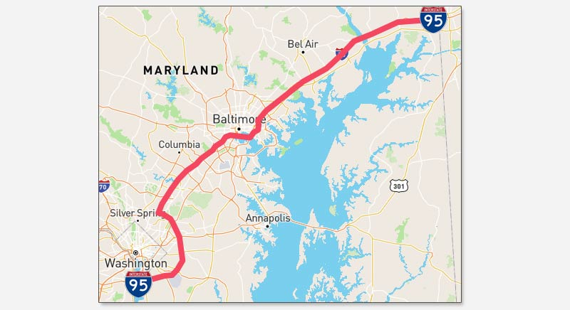 I95 MD Traffic Maps