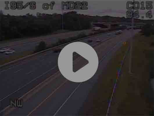 Traffic Cam I-95 S of Caton Ave Ex 50 (C032) - MP 49.9 Player