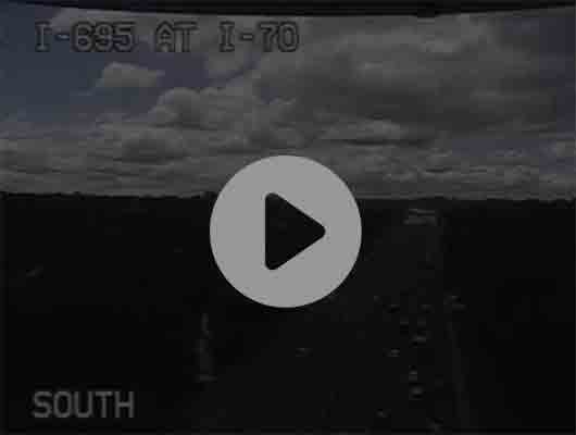 Traffic Cam I-95 N of I-895 Split (C028) MP 14.7 Player