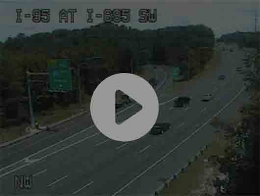 Traffic Cam I-895 S of O'Donnell St (C035) MP 11.8 Player