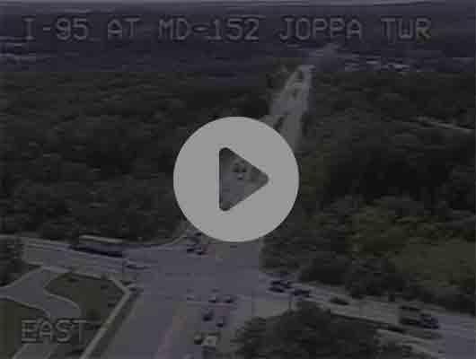 Traffic Cam I-895 N of US 40 Ex 13 Pulaski Hwy (C033) MP 13.4 Player