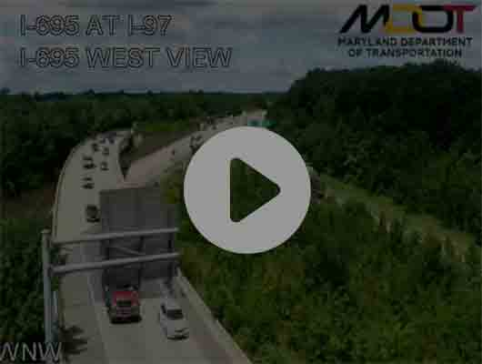 Traffic Cam I-95 N of MD 648 Annapolis Rd (C030) MP 52.3 Player